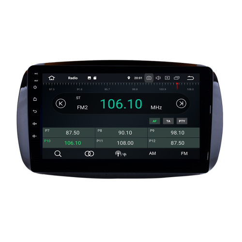 Touchscreen Android 9 Autoradio 9 GPS NAVI USB for Smart without Orginal Display
