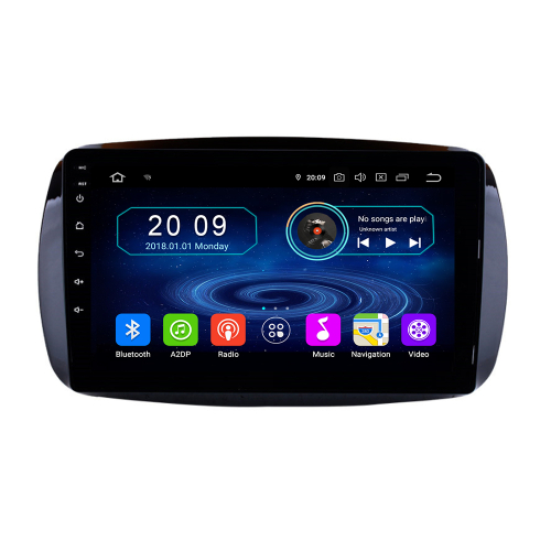 Touchscreen Android 9 Autoradio GPS NAVI USB SD für Smart with Orginal Display
