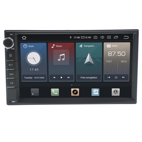 Universal 2 DIN  10,1 Touchscreen Android 9.0 Headunit 10,1 Navigation GPS USB