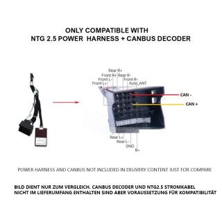 Fiber Optic to NTG2.5 Adaptor for Mercedes Benz W171 R171...