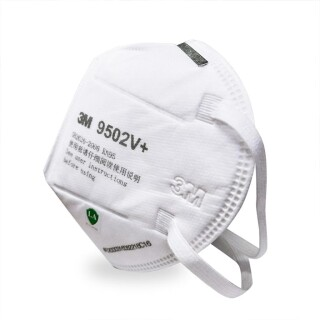 25x 3M 9502V+ KN95 Face Mask With Vent Valve 3M Mask 9502V+ Face Protection Mask