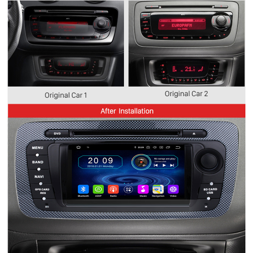 seat ibiza android autoradio touchscreen gps 3d navi dvd. Black Bedroom Furniture Sets. Home Design Ideas