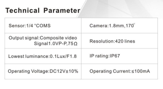 Rear Camera + 3 Distance Warning for VOLVO S40L S80L XC60 XC90 S40 S80 C70