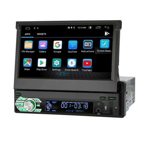 1 Din 7Touchscreen Android 9 Headunit Navigation 3D GPS USB Bluetooth WIFI