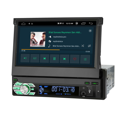 1 Din 7Touchscreen Android Autoradio Navigation 3D GPS DVD USB Bluetooth WIFI