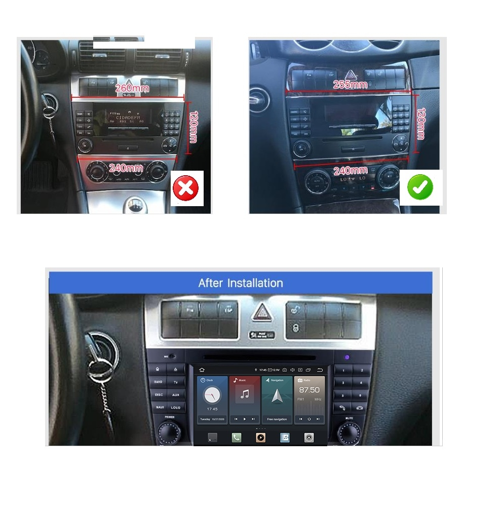 mercedes benz clk w209 android touchscreen autoradio gps. Black Bedroom Furniture Sets. Home Design Ideas