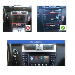 """7"""" Touchscreen Android Head Unit DVD USB Navigation for Mercedes Benz CLK W209"""