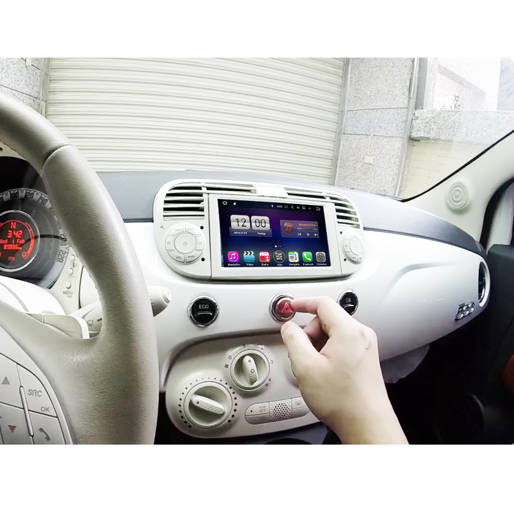 fiat 500 headunit android 8 3d gps navi touchscreen dvd. Black Bedroom Furniture Sets. Home Design Ideas
