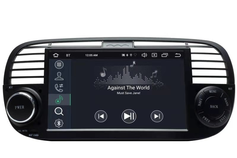 fiat 500 headunit android 8 gps navigation touchscreen dvd. Black Bedroom Furniture Sets. Home Design Ideas