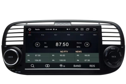 fiat 500 headunit android gps navigation touchscreen dvd bluetooth wifi usb sd. Black Bedroom Furniture Sets. Home Design Ideas
