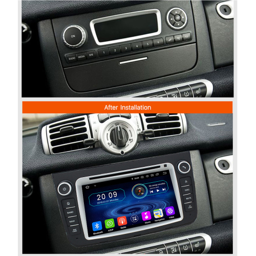 Smart Android 8 Autoradio 3D Touchscreen GPS Navi DVD Bluetooth WIFI USB SD
