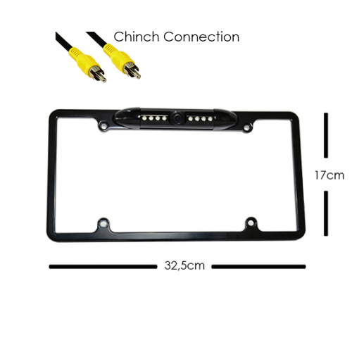 HD Backup Cam US Car Plate number holder Camera with Night Vision Parking Lines