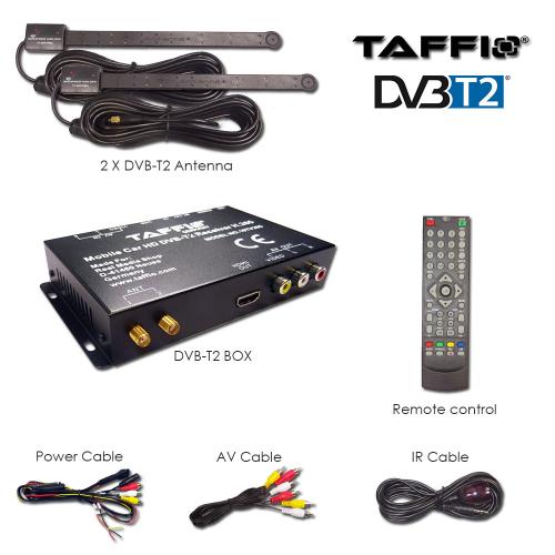 Universal Kfz Auto Dvb T2 H265 Hd Digital Receiver Mpeg4 240 Kmh Tv