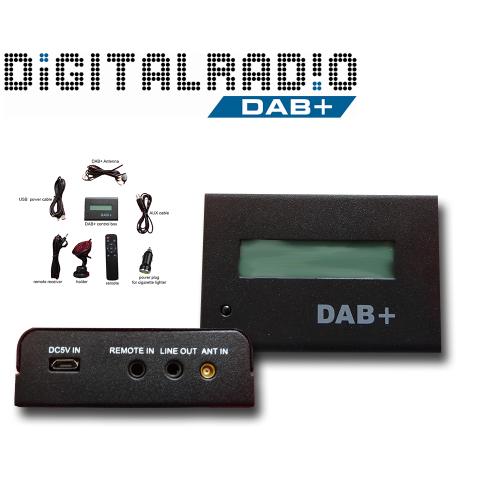 Universal Autoradio DAB+ Tuner Digitalradio Empfänger DAB via AUX Remote FM Transmitter