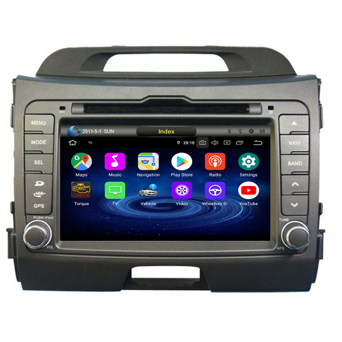 Kia SPORTAGE Android 8.0 Autoradio GPS Navi Touchscreen Bluetooth DVD USB WIFI SD