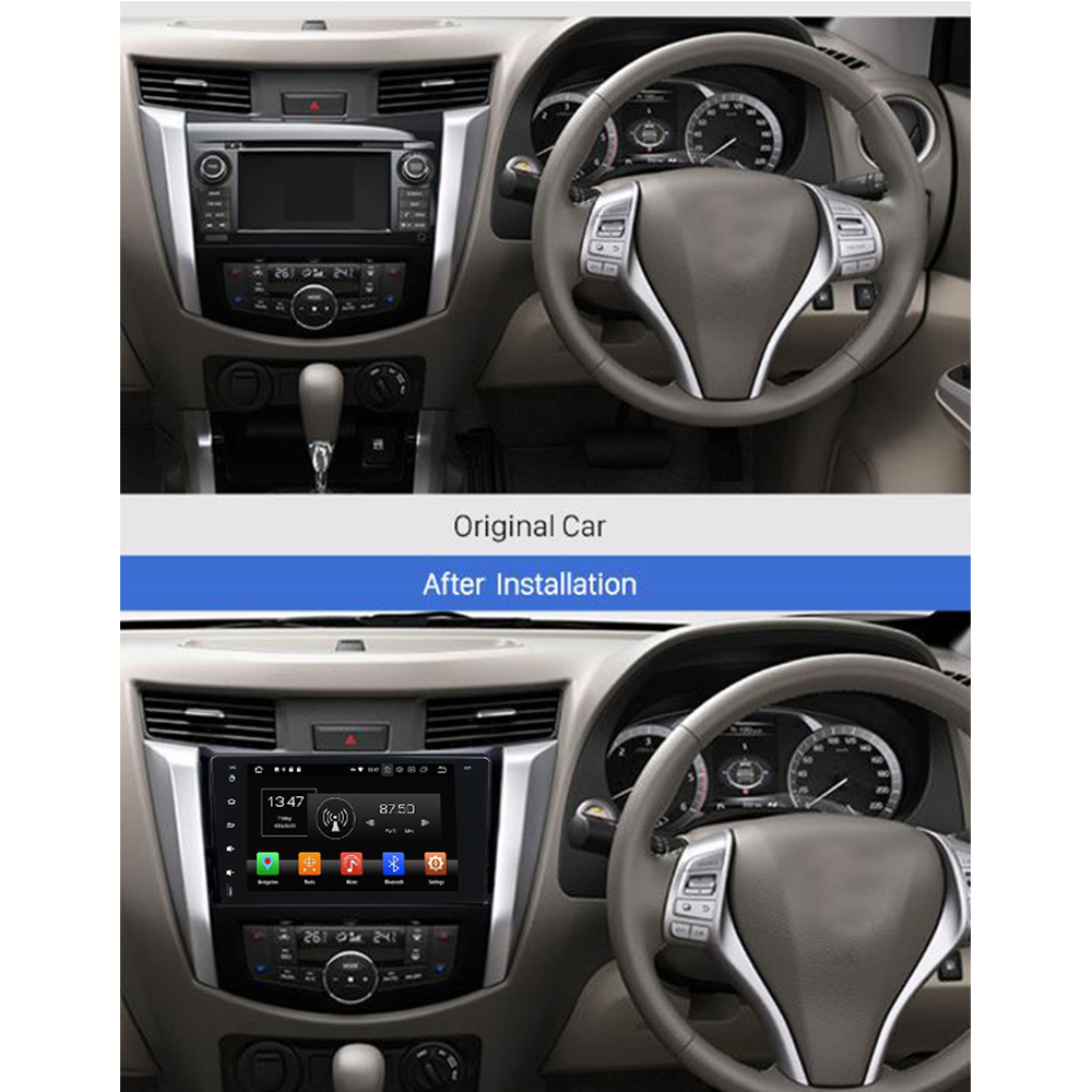 nissan navara android 8 autoradio 3d navi touchscreen. Black Bedroom Furniture Sets. Home Design Ideas