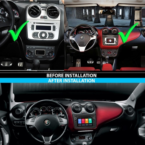 Alfa Romeo Mito Android 9 Autoradio GPS 3D Navi Touchscreen DVD Bluetooth USB SD