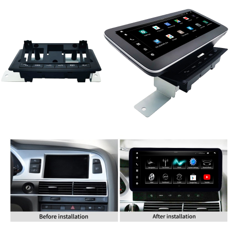 AUDI A6 S6 RS6 MMI 2G HIGH 10,25 Android 10 Touchscreen GPS Navigation USB