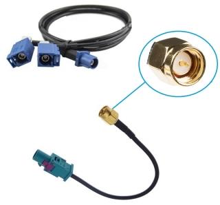 FAKRA Antennenadapter Doppel Splitter Verteiler + SMA...
