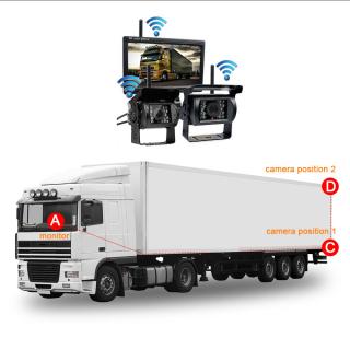 Truck Bus Wireless Camera HD CCD Night Vison Rear Camera...